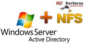 настройка NFS для авторизации в windows 2008 R2