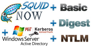 настройка аутентификации прокси-сервера SQUID