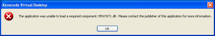 Not Found msvcr71.dll